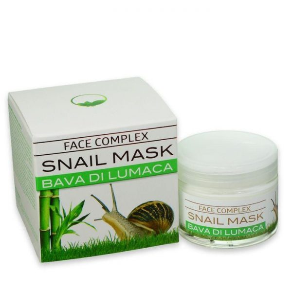 maska s polžjo slino