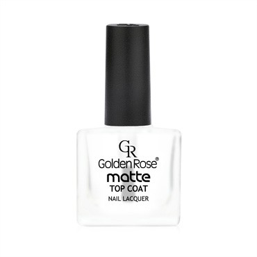 golden rose matte top coat nail lacquer - mat nadlak za nohte