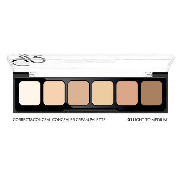 Paleta korektorjev - concealer cream palette light to medium