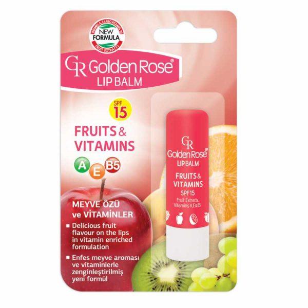 balzam za ustnice golden rose fruits and vitamins